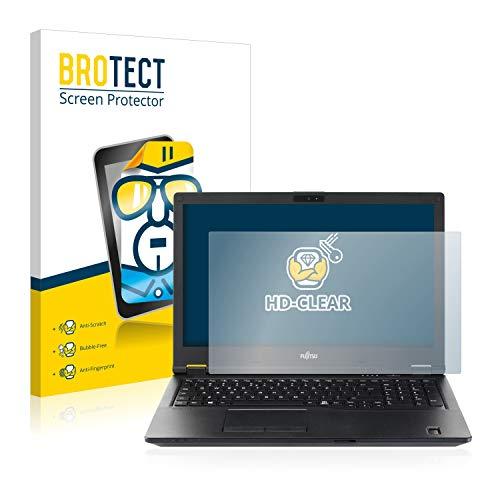 BROTECT Schutzfolie kompatibel mit Fujitsu Lifebook E5510 klare Bildschirmschutz-Folie