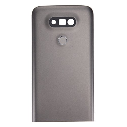 HMG Metal Back Cover mit rückseitigem Kameraobjektiv und Fingerabdruck-Knopf for LG G5 (Grau) (Color : Grey)