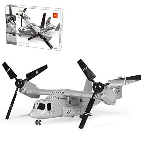 CYGG Kits de construcción de Aviones de Combate, Modelo de rotorcraft Militar Coleccionable, Bloque de construcción 605pcs Compatible con Lego