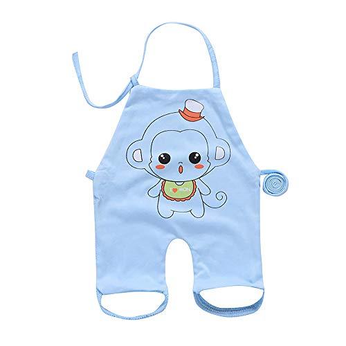 gengyouyuan Cotton Even Leg dudou Cartoon Thin Apron Newborn Belly