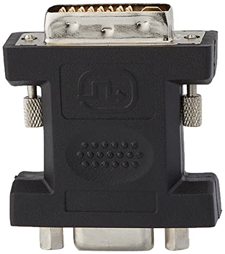 PremiumCord DVI auf VGA Adapter, DVI-I (24 + 5) Stecker - VGA Buchse (15 polig), Vernickelt, Farbe schwarz, kpdva-1