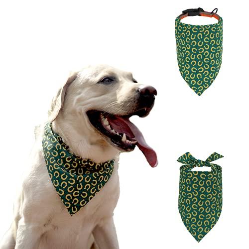 OrionisPet Collare Cane con Bandana,Regolabile,Riflettente Collari per Cani di Taglia Media e Grande,con Impermeabile e Comodo Bandana Cane (L)