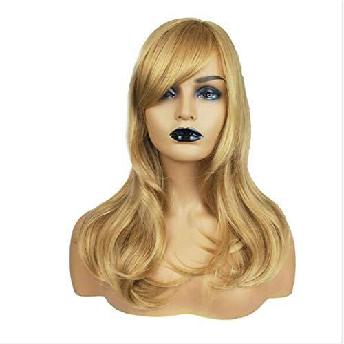 Femmes blond clair cheveux longs bouclés mode Big Wave longues perruques complètes , Convient pour Halloween, jeux de rôle (1 pc)