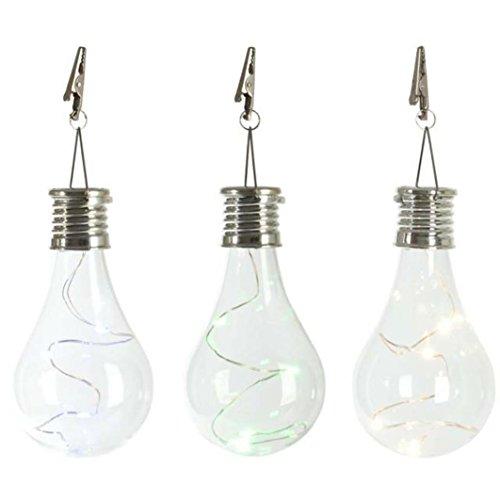 Winkey Solarlampe, wasserdicht, drehbar, LED-Glühbirne, für Garten/Camping, klar