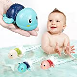 SEPHIX Bath Toys for Toddlers 1-3 Year Old Boys Gifts, Swim Turtle Water Bath Toys for Toddlers Boy Toys for 1 2 3 4 Year Old Girls Gifts, Wind-up Bathtub Toys for Baby Pool Toys Toddler Age 1-2-4