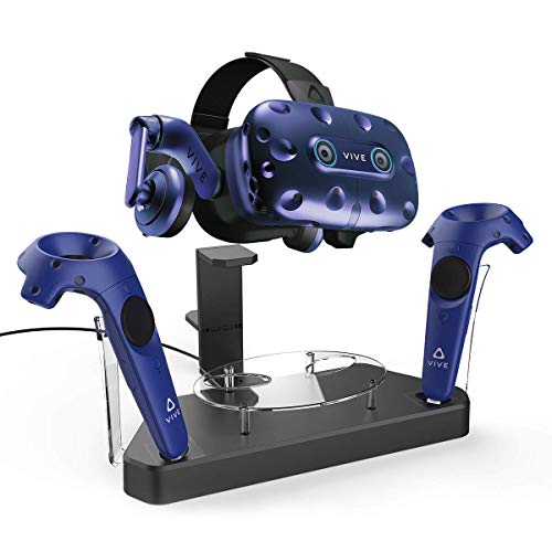 AFAITH Upgraded Charger for HTC Vive Pro or Vive Headset and Controller, Multifunction Contact Charging Station, VR Stand Holder Support Firmware Upgrade