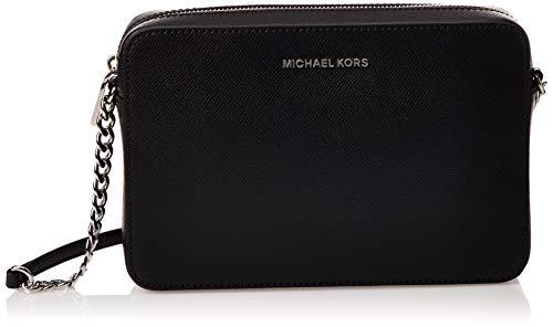 Michael Kors - Jetset Lg Ew Crossbody, Bolsos bandolera Mujer, Negro (Black), 24x16x5.5 cm