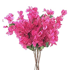 jiumengya 5pcs Bougainvillea Glabra Artificial Floor Mounted Fake Bougainvillea Flower for Wedding Centerpieces Decorative Flowers
