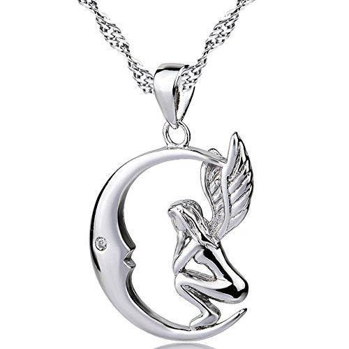 Silver Mountain Collar mujer plata de ley 925 Ángel Luna Colgante