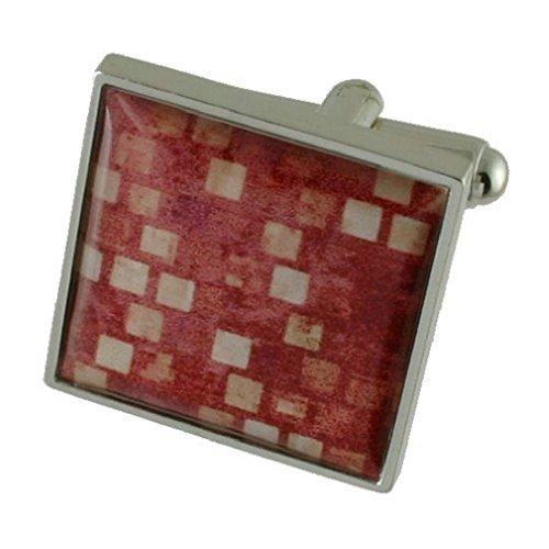 Bordeaux Design lourde solide Argent sterling 925 Boutons de manchette + cadeau personnalisé Message Boîte à boutons de manchette