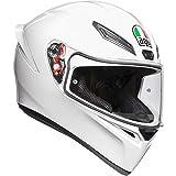 AGV Unisex-Adult Full Face K-1 Motorcycle Helmet (White, Medium/Large)