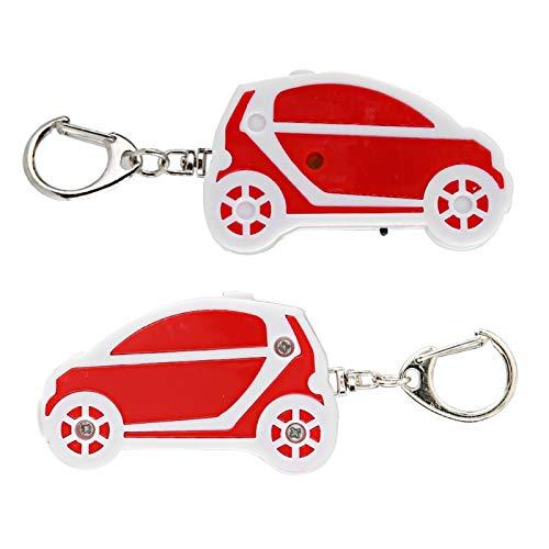Localizador de Llaves de Llavero, Buscador de Llaves de Material ABS Anti-perdida, Llavero de Alarma para Carteras(Red and White)