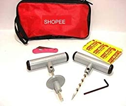 SHOPEE tyre Car & Bike Tubeless Tyre Puncture Repair Kit and 5 Strip Plugs