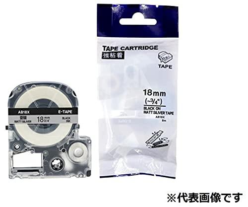 AIMO 互換ラベルテープ KINGJIM/EPSON 透明地/白文字 18mm AT18SW