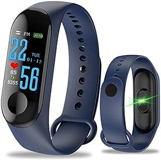 Cheyenne Pulsera Fitness Tracker Reloj Pulsómetro, M3GPS Impermeable IP67presión sanguínea para Mujer Hombre Color Pantalla táctil, Turquesa