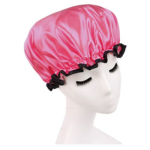 Qualité douche réutilisable Cap réutilisable bonnet de bain étanche, Rouge