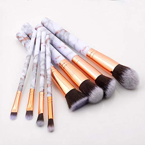 MLYJC Pinceaux Maquillage kit Ensemble de pinceaux de maquillage Brosses à outils Pinceau de maquillage multifonctionnel Correcteur de fard à paupières Fondation, 8pcs or