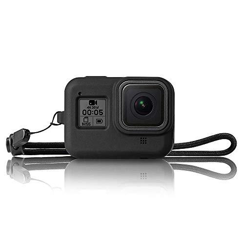 TELESIN Custodia Silicone per GoPro Hero 8 Black,Hero 8 Guaina e Cordino