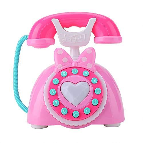 zhuolong Juguete telefónico, teléfono Musical bilingüe, Desarrollo Educativo para bebés y niños, Juguete para Juegos de simulación, Regalo (Azul)(Rosado)