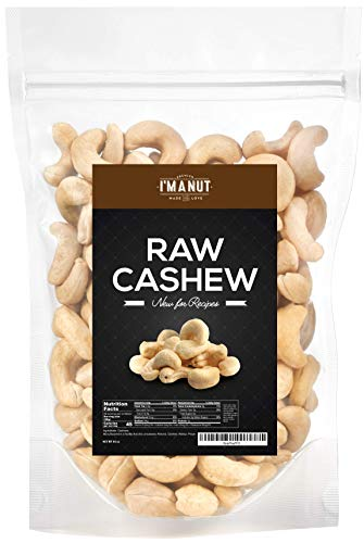 Raw Whole Cashews, 3 lbs, 100% Natural, No Chemicals, Non-GMO, Keto and Paleo Diet Friendly