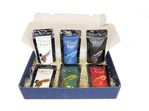 Geschenkset Espresso Angel Serie der exklusiven Kaffee & Espresso-Serie Highlight Weihnachtsgeschenk (gemahlener Kaffee) Geschenk Set - Länder Kaffee aus aller Welt