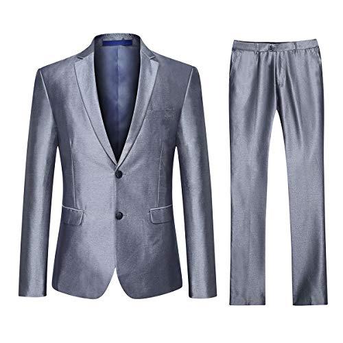 YOUTHUP Abito Da Completo Uomo Slim Fit 3 Pezzi Elegante 2 Pulsante Blazer E Panciotto E Pantaloni