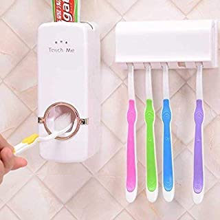 Xanadu Toothpaste Dispenser and Tooth Brush Holder for Home Bathroom Accessories (W-TD-1)