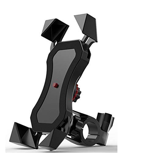 LJFZMD Soporte Motocicleta, Soporte para Navegación para Teléfono En Bicicleta, Soporte para Clip De Montaje En Espejo Retrovisor, Recargable E Impermeable, Teléfonos Móviles De 4-6,5 Pulgadas,A