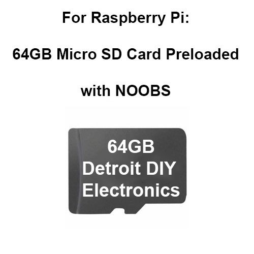 Preloaded Micro Sd Card for All Raspberry Pi Models (64GB Micro with Adapter, Noobs)