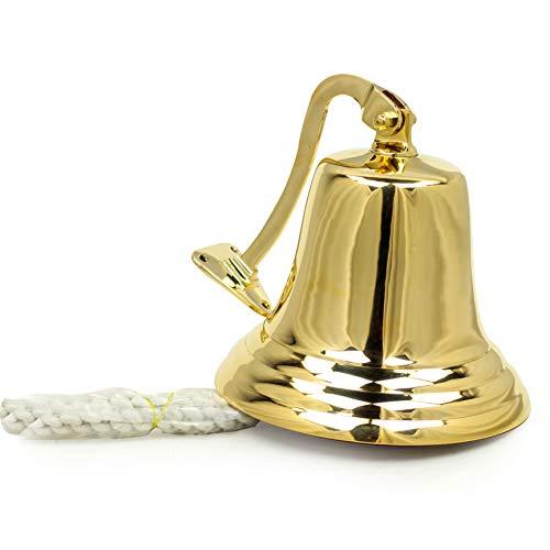 """8"""" Nautical Brass Maritime Ship Bell"""