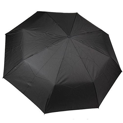 Dr. Neuser Herren Regenschirm Umbrella Schirm mit Doppel Automatik Auf und Zu Rundhakengriff, Farbe:Modell 1