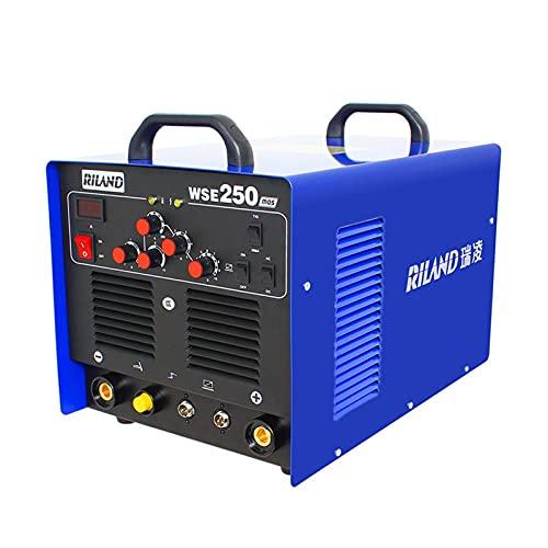 WSE250 TIG Equipo de soldadura del inversor de la onda del soldador de la soldadora de la soldadora de aluminio con las herramientas de los accesorios