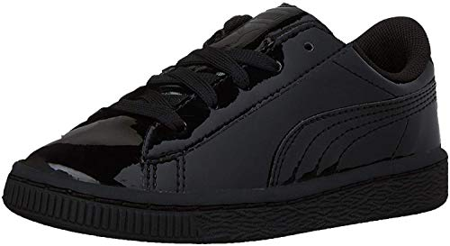 Puma Puma Boys' Basket Classic Patent PS Sneaker, Puma Royal/Puma Roya, 12 M US Little Kid