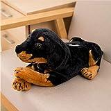 GHJU Simulation Hund Plüschtier Gewebetasche Stuffed Papierkasten wirklichen Leben Hundewelpe Tissue Aufbewahrungstasche kreative Geschenk-Hauptdekoration 46cm Qingqiao