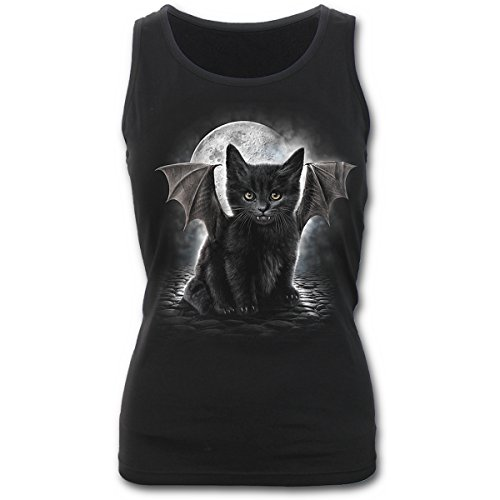 Spiral Direct Damen Bat Cat-Razor Back Top, Schwarz (Black 001), 46 (Herstellergröße: X-Large)