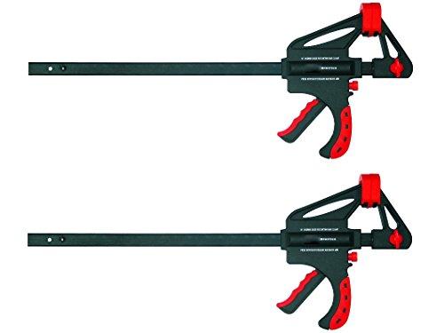 Proteco-Werkzeug® Set 2 Stück Schnellspannzwingen 600 mm x 93 mm Einspanntiefe Einhandzwingen Spreizzwingen Spannzwingen Schraubzwingen
