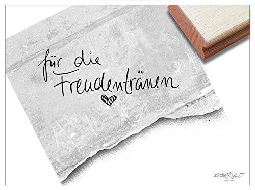 Stempel Textstempel FÜR DIE FREUDENTRÄNEN Handschrift mit Herz - Schriftstempel Glückwünsche Hochzeit, Karten Gastgeschenke Tischdeko- zAcheR-fineT
