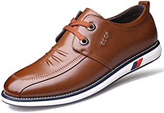 FYKHhcF Men's Fashion Casual Leather Shoes Slip-on Round-Toe Loafers