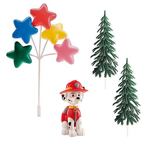 Dekora - Figuras para Tartas Infantiles de Marshall Patrulla Canina