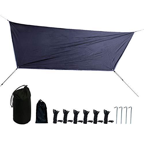 GYFHMY Camping Tarp Perfect Tent Cover of Hangmat Gebruik Shelter Zonnescherm Ultralight Waterdichte Rip Resistant met Opbergtas voor Outdoor Picknick Vissen