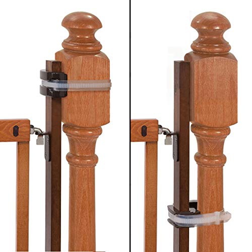 """Summer Banister to Banister Universal Gate Mounting Kit – Fits Round or Square Banisters Accommodates Most Hardware amp Pressure Mount Baby Gates up to 37"""" Tall Gate Sold Separately"""