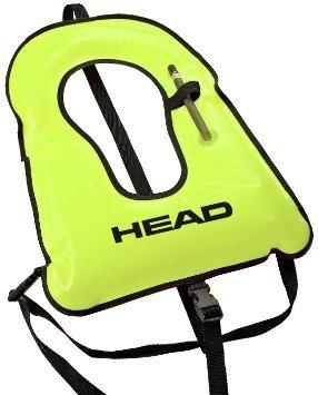 Mares Head Snorkel Vest, Yellow/Black Trim, Adult/Regular/80 to 180 lb