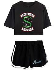 OLIPHEE Dames Riverdale South-Side Slange sportkleding dames top zomer