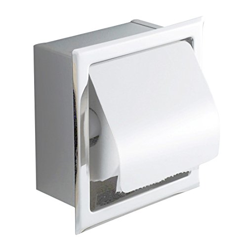 Freahap Toilettenrollenhalter mit Deckel, Toilettenpapierhalter, 16,5 x 16,5 x 7,5 cm