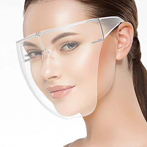 MALLARD® Goggle Style Face Shield with 180° Safety Coverage   Anti-Scratch Coated Glasses and Clear Face Visor   Unisex   Fashion Protective Wear for Men, Women & Kids  (1pc of N95 Mask FREE)