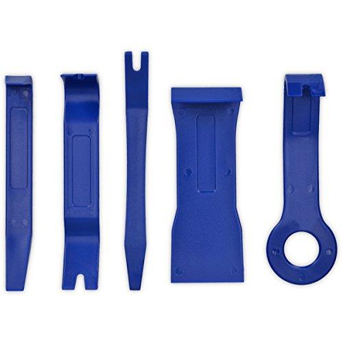 kwmobile Outils Démontage Garniture - Kit 5X Outil Levier Clip pour Démontage Garniture Intérieure Voiture Autoradio Tableau de Bord Carrosserie