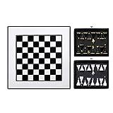 GLXLSBZ Chess International Chess Juegos de ajedrez para Adultos Tablero de ajedrez de Madera de Lujo con 2 cajones Piezas de ajedrez (Pensamiento Intelectual)