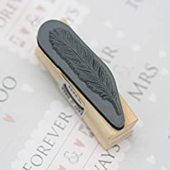 East of India Rubber Craft Design Stamp Feather #1