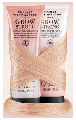 (Pack of 2) Charles Worthington Grow Strong Activating SHAMPOO 250ml & Grow Strong Protein CONDITIONER 250ml