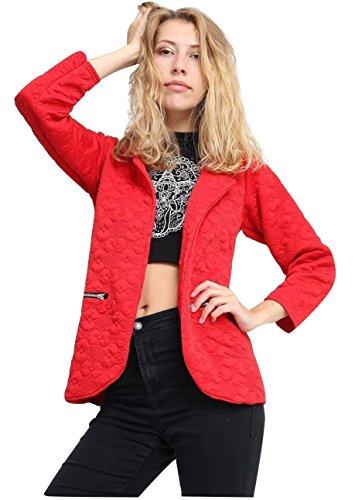 Momo&Ayat Fashions Dames Bloemen Gewatteerde Print Zip Pocket Blazer Jas UK Maat 8-14